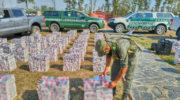 Formosa: Gendarmería decomisó 45 mil paquetes de cigarrillos ilegales