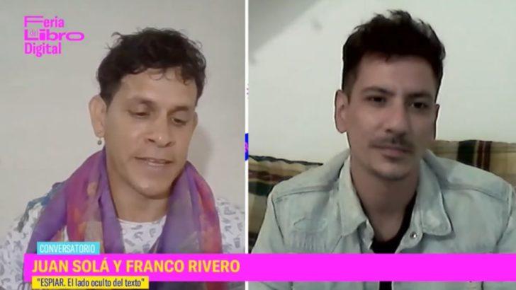 Juan Solá y Franco Rivero en la Feria del Libro Digital