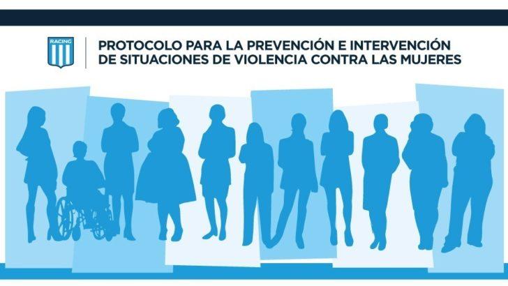 Por unanimidad: Racing Club aprobó el Protocolo para la Prevención e Intervención de Situaciones de Violencia de Género