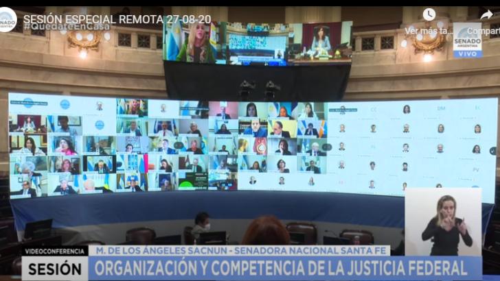 Senadores: comenzó la sesión especial para tratar la reforma judicial enviada por el Gobierno
