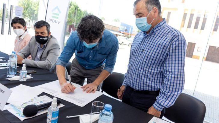 El Ipduv firmó convenio con seis municipios en el marco del programa Vivienda Adecuada