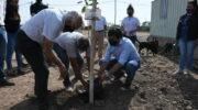 Gustavo Martínez participó de la plantación de 30 árboles en la futura sede de la fundación Conin Chaco