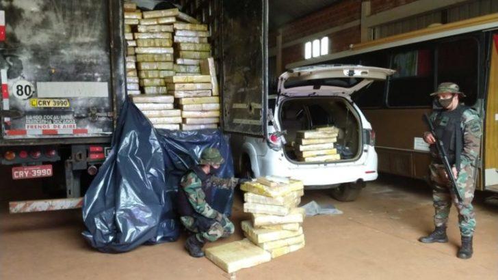 Prefectura decomisó más de 4.000 kilos de marihuana en Misiones