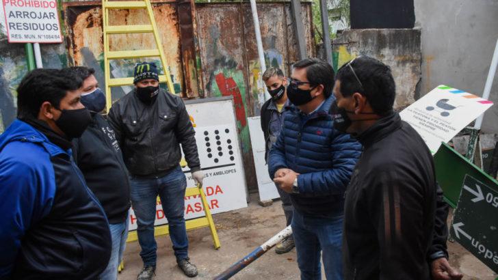 Resistencia: Gustavo Martínez dialogó con trabajadores de la Dirección de Señalización y Vialidad