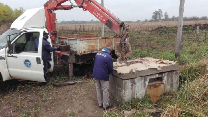 Villa Ángela-San Bernardo: reparan un tramo del acueducto dañado por la intención de productores de extraer agua para sus campos