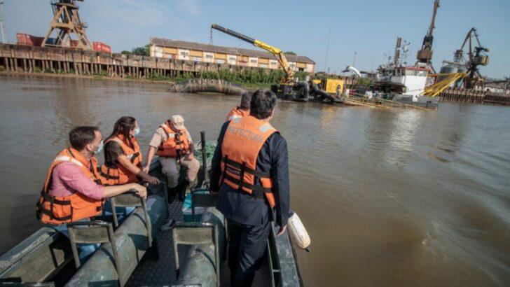 Capitanich monitoreó el dragado del Riacho Barranqueras
