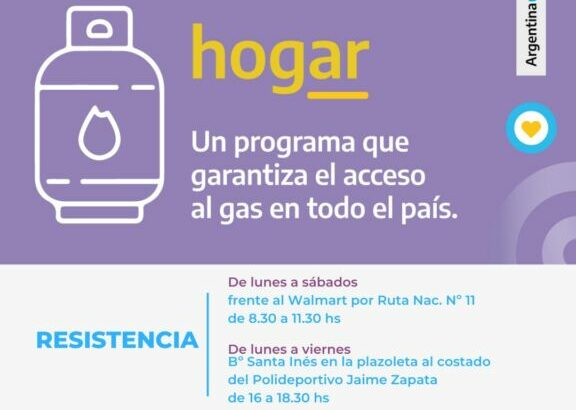 Gas a precios accesibles: el programa Hogar llega a distintos puntos de la provincia