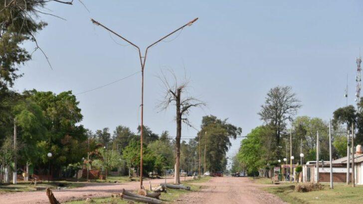 Las Garcitas: avanza la renovación del alumbrado público en toda la localidad