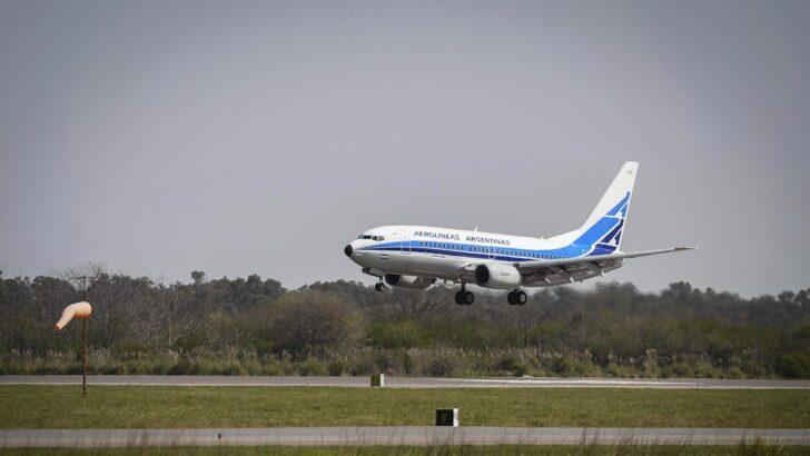 Los vuelos regulares de cabotaje de Aerolíneas Argentinas arrancan el próximo jueves