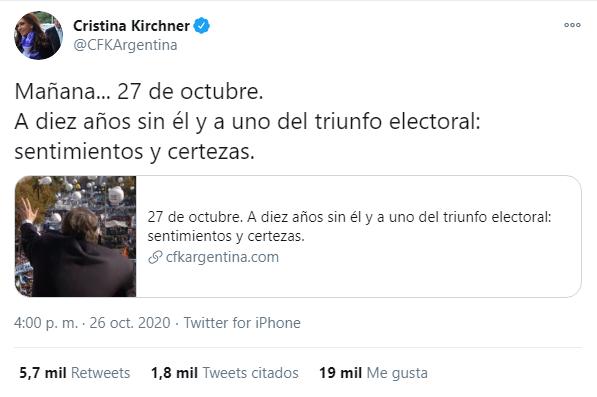 """""""Sentimientos y certezas"""": Cristina publicó una serie de reflexiones que movieron el tablero político"""