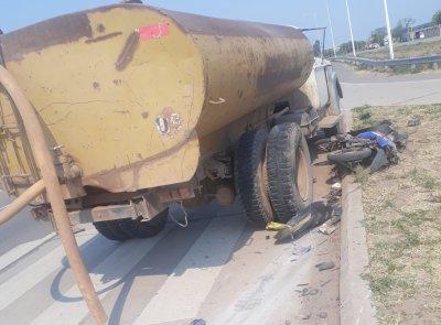 Taco Pozo: chocó contra un camión cisterna y falleció