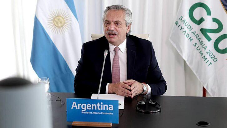 Alberto Fernández, ante el G20: «Estamos ante un verdadero cambio de época»