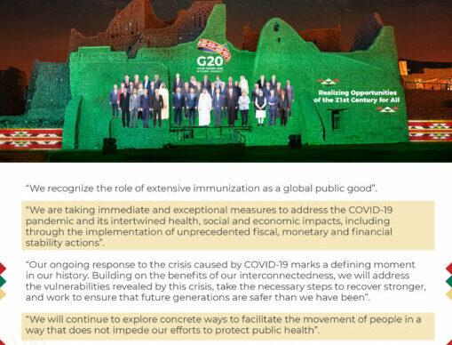 Covid 19 en el mundo: el G20 se comprometió a distribuir la vacuna de manera justa 1