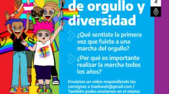 El INADI convocó a enviar videos y fotos para celebrar el Orgullo LGTBIQ+