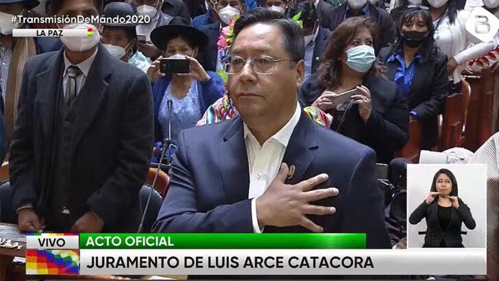 """En su asunción como presidente, Arce dijo que desde el golpe su país «fue escenario de una guerra contra el pueblo"""""""