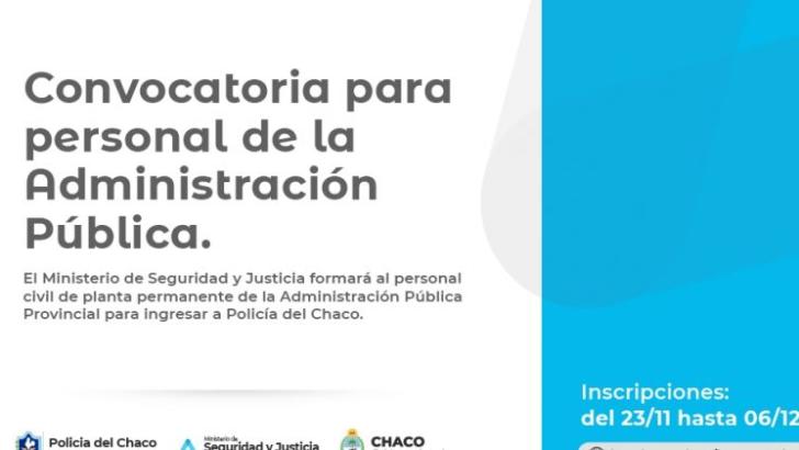 Este lunes abre la convocatoria para el ingreso de 150 efectivos de la Policía del Chaco