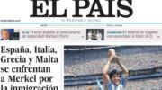 La muerte de Maradona, reflejado en los titulares del mundo
