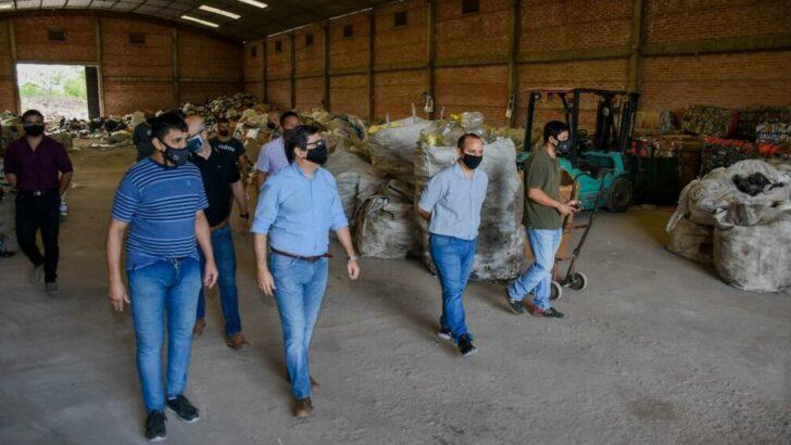 Resistencia: Gustavo Martínez verificó el funcionamiento de la separación de residuos del área metropolitana