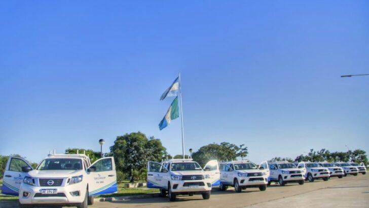 Secheep recibió 18 camionetas para 10 localidades