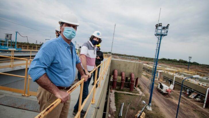 Supervisaron el avance de obra de la planta de tratamiento de líquidos cloacales del Gran Resistencia