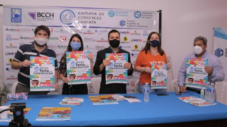 Charata: Producción acompañó el lanzamiento de la Feria de la Construcción