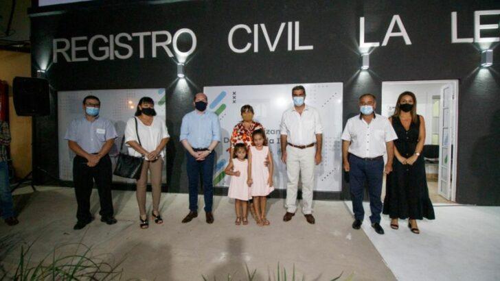En La Leonesa, y mediante el cofinanciamiento, se inauguraron las refacciones y ampliaciones del Registro Civil