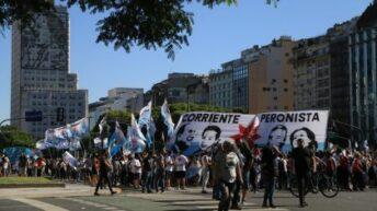 Organizaciones políticas y sociales marcharon a la Corte para reclamar una «Navidad sin presos políticos»