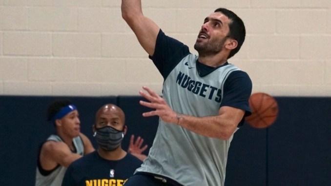 Primer entrenamiento de Campazzo con los Denver Nuggets