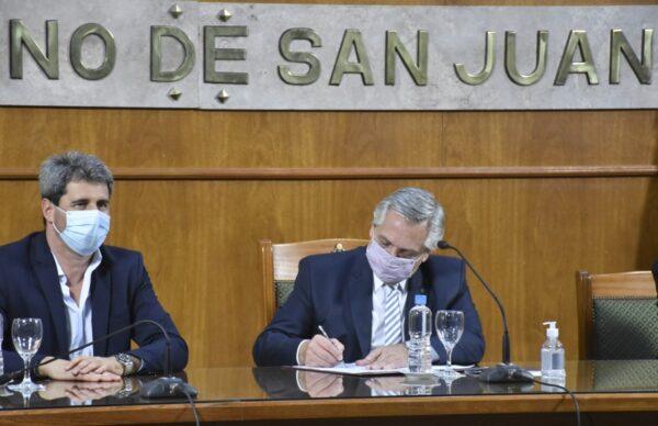 Alberto Fernández cambió su agenda para visitar San Juan 1