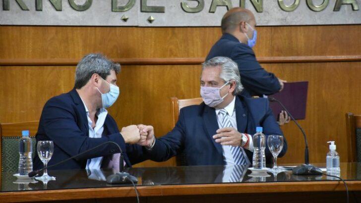 Alberto Fernández cambió su agenda para visitar San Juan