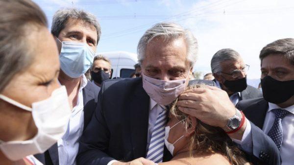Alberto Fernández cambió su agenda para visitar San Juan 4