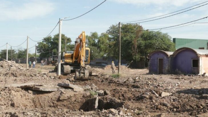 Barrio Toba: construyen viviendas y obras integrales