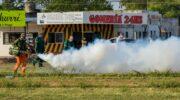 Chau Mosquito: ejecutaron un amplio despliegue de saneamiento integral del parque urbano Tiro Federal