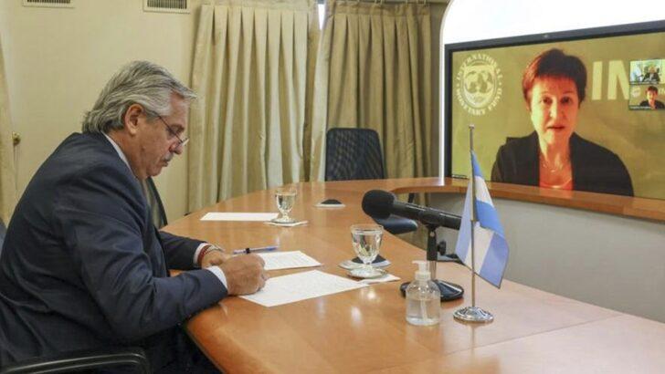 El FMI y Alberto hablaron de un nuevo acuerdo de financiamiento