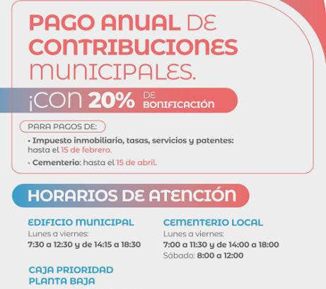 El Municipio de Barranqueras brinda importantes facilidades de pago para tributos atrasados, y bonificación por pago adelantado.