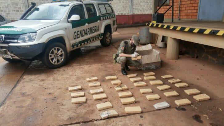 Misiones: Gendarmería secuestró más de 27 kilos de marihuana abandonados