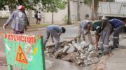 Resistencia: continúan con las obras de bacheo en el corredor prioritario del transporte de pasajeros