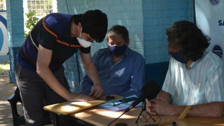 Sameep: Fabián Ríos celebró la licitación para la ampliación de las redes cloacales en el barrio Roger Balet