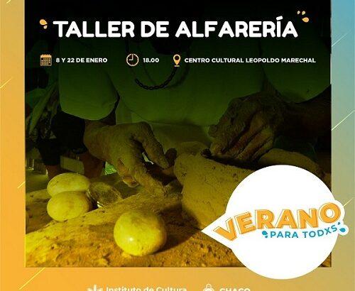 Taller gratuito de alfarería  en el Leopoldo Marechal