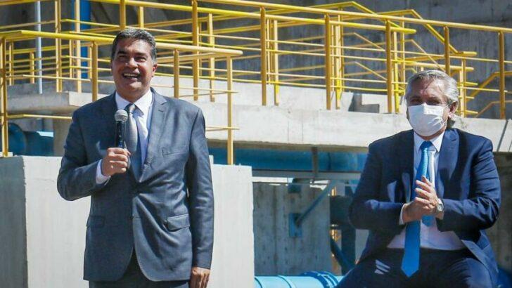 Capitanich y Alberto Fernández inauguraron oficialmente el acueducto de El Impenetrable