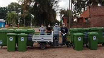 Ciervo Petiso: el Gobierno entregó equipamiento para el tratamiento de residuos