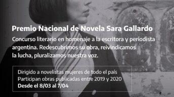 Convocatoria al Premio Nacional de Novela Sara Gallardo