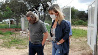 El Impenetrable: Daniela Torrente supervisó obras en construcción