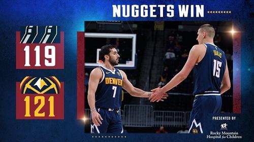 Los Nuggets vencieron a San Antonio Spurs con Campazzo de titular
