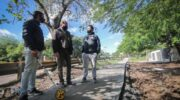 Constataron el avance de la construcción de veredas en los barrios Miranda Gallino y Villa Río Negro