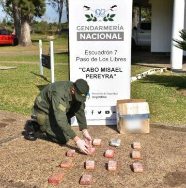 Corrientes: Gendarmería secuestró encomienda narco