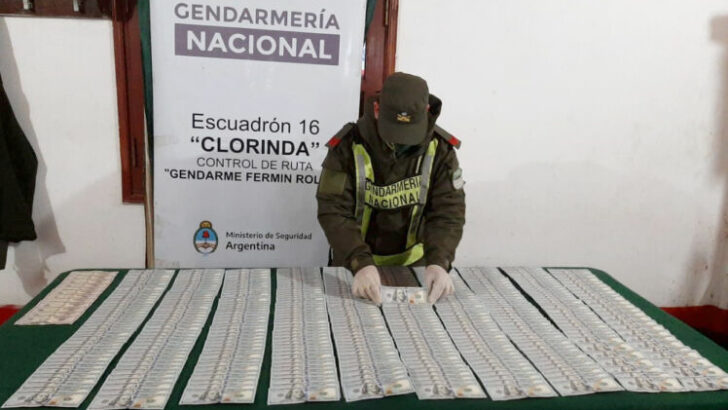 Formosa: llevaban 39.700 dólares sin aval legal