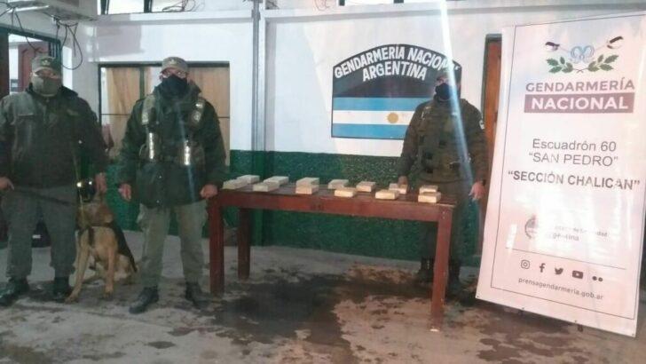 Jujuy: Gendarmería decomisó más de 13 kilos de cocaína y 3,874 kilos de marihuana