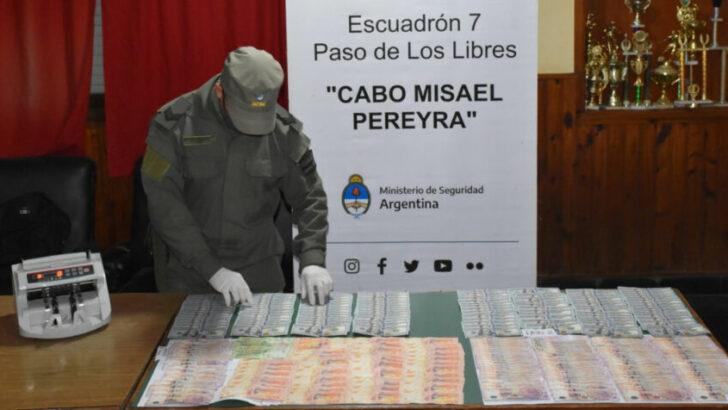 Lavado de activos en Corrientes: Gendarmería detuvo a un hombre por no poseer la documentación que avale la procedencia del dinero