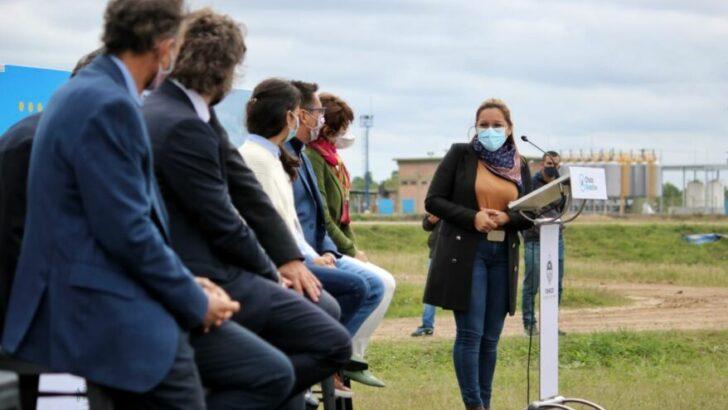 Magda Ayala participó de la inauguración de la nueva planta de tratamiento de residuos cloacales junto al gobernador y funcionarios nacionales